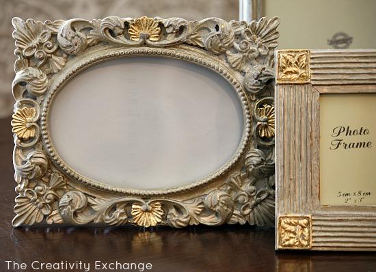Transform Old Frames with Spray Paint & Gold Leaf. | Hometalk