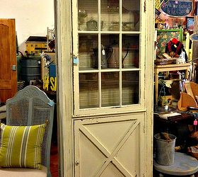 Salvaged Door Into A Cabinet, Kitchen Cabinets, Painted Furniture,  Repurposing Upcycling, ...
