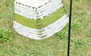 solar light basket, crafts, lighting, outdoor living