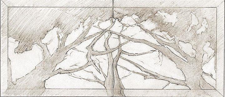 Front Doors Branch Motif Concept Sketch