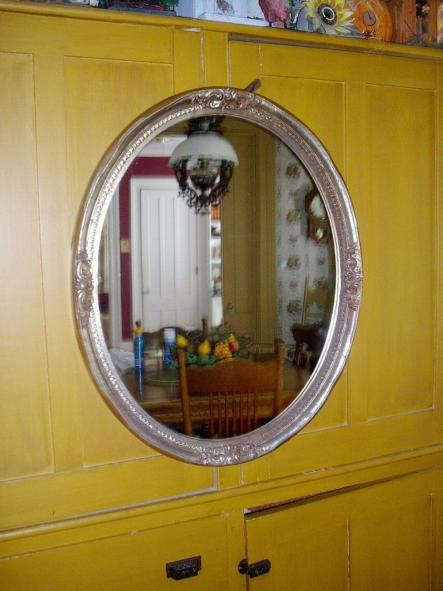 what should i do with this great vintage find, repurposing upcycling, I found this large mirror 24 x 30 while thrifting