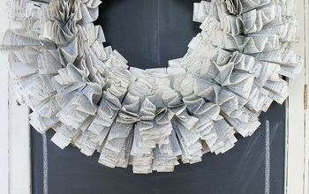 DIY Starburst Recycled Paper Wreath