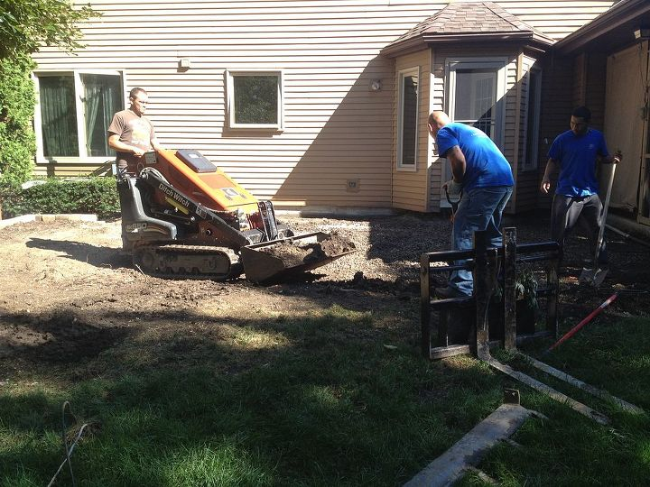 brick patio naperville il, outdoor living, patio, Started this project last week