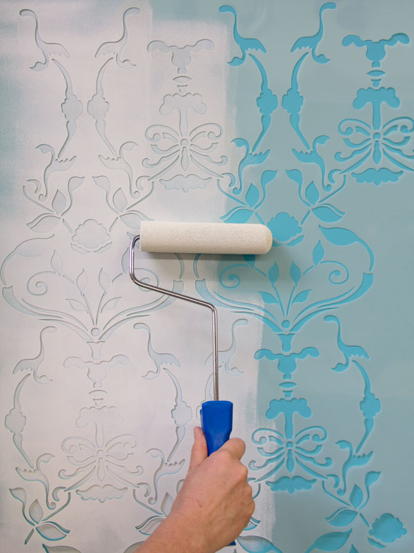 Stencil your favorite pattern design as directed using one of our foam rollers for fast and easy application. http://www.royaldesignstudio.com/collections/stencil-rollers