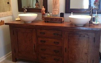 from sideboard buffet to master bathroom vanity, bathroom ideas, home decor, painted furniture, to Master bath vanity