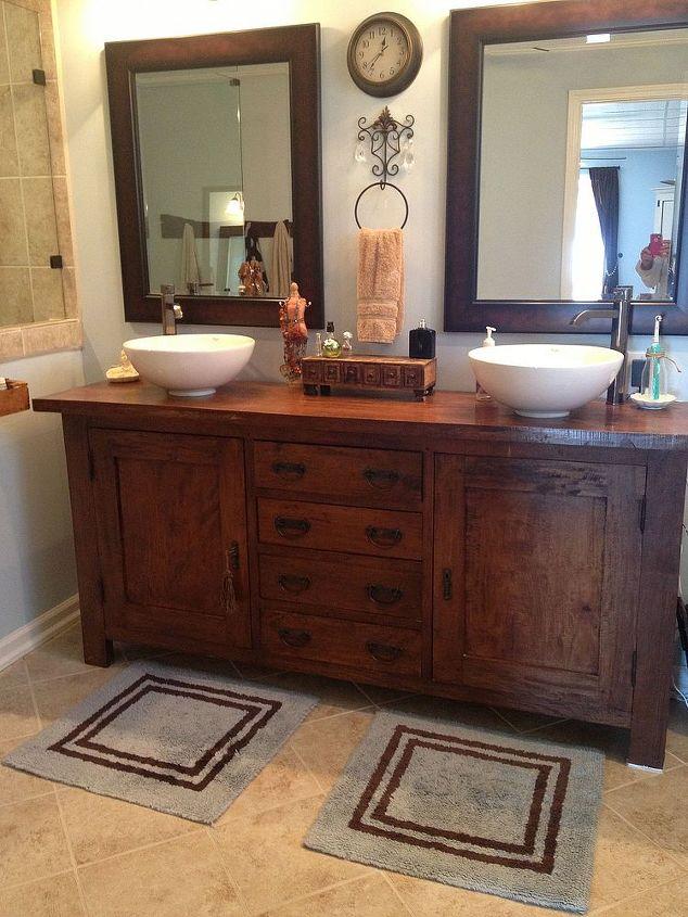 From Sideboard Buffet To Master Bathroom Vanity Hometalk