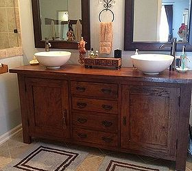 From Sideboard Buffet To Master Bathroom Vanity, Bathroom Ideas, Home  Decor, Painted Furniture