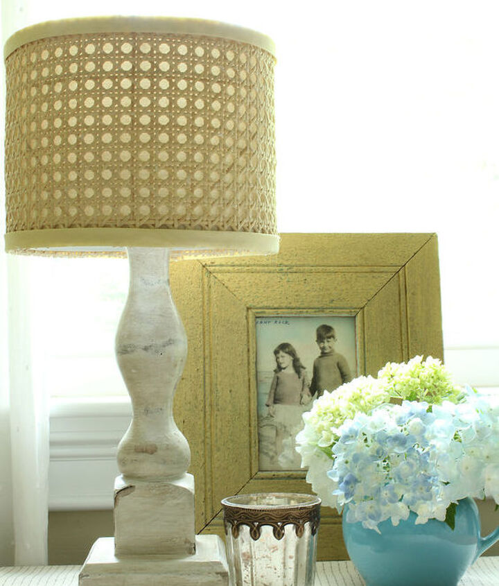 diy horchow inspired natural cane lamp shade, crafts, diy, home decor