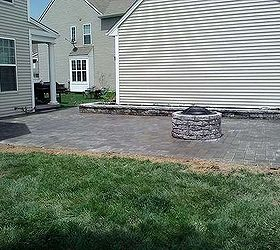 Patio Fire Pit And Garden Wall Build, Gardening, Outdoor Living, Patio