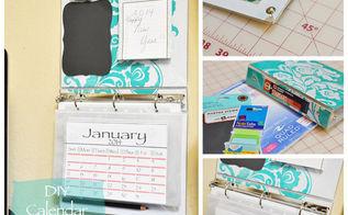 diy organizer with free 2014 calendar, organizing