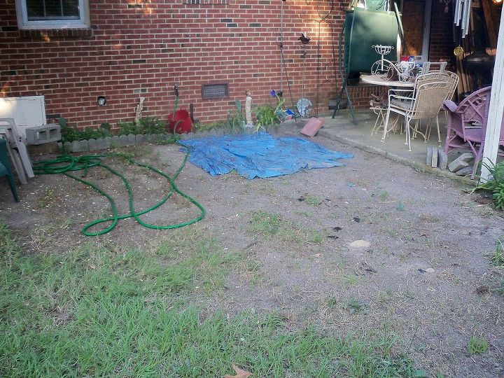 paver patio off of existing patio