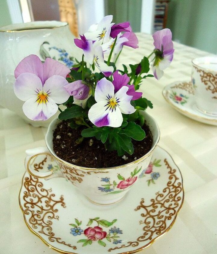 I love the finished tea cup!