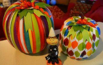 Colorful ModPodged Pumpkins