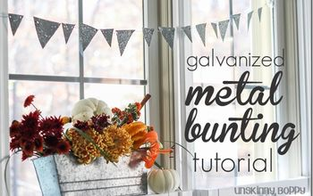 Rustic Thanksgiving Table With Galvanized Metal Bunting Tutorial