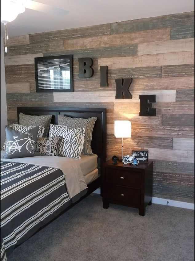 Faux plank wall painted for Terri Kemp Interiors.