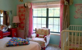 a thrifty transitional little girls bedroom, bedroom ideas, home decor