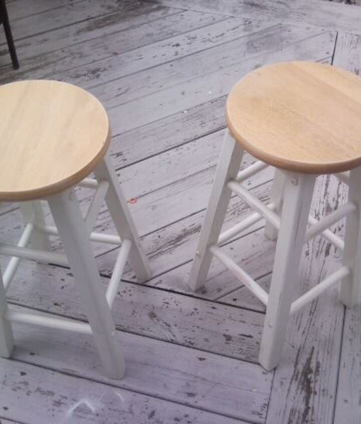 Stools Before.....plain and white