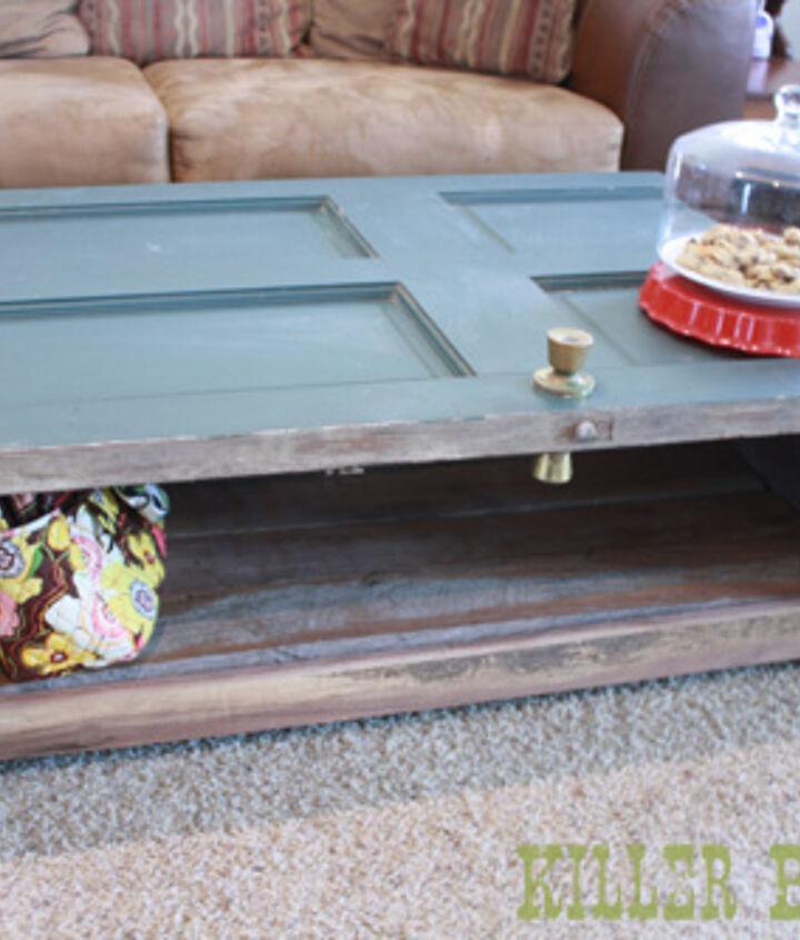Salvaged Door Coffee Table