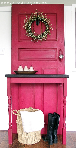 Old Door Diy Modern Country Entry Table Doors Painted Furniture
