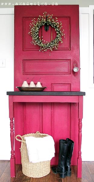 Old Door Diy Modern Country Entry Table Doors Painted Furniture