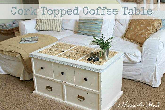 cork topped trunk, crafts, painted furniture, Cork Topped Trunk