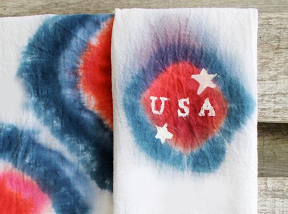 diy 4th of july tea towels, crafts, patriotic decor ideas, seasonal holiday decor