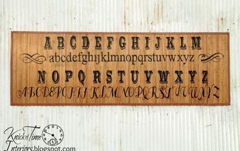 typography bamboo mat knock off, crafts, flooring, My version