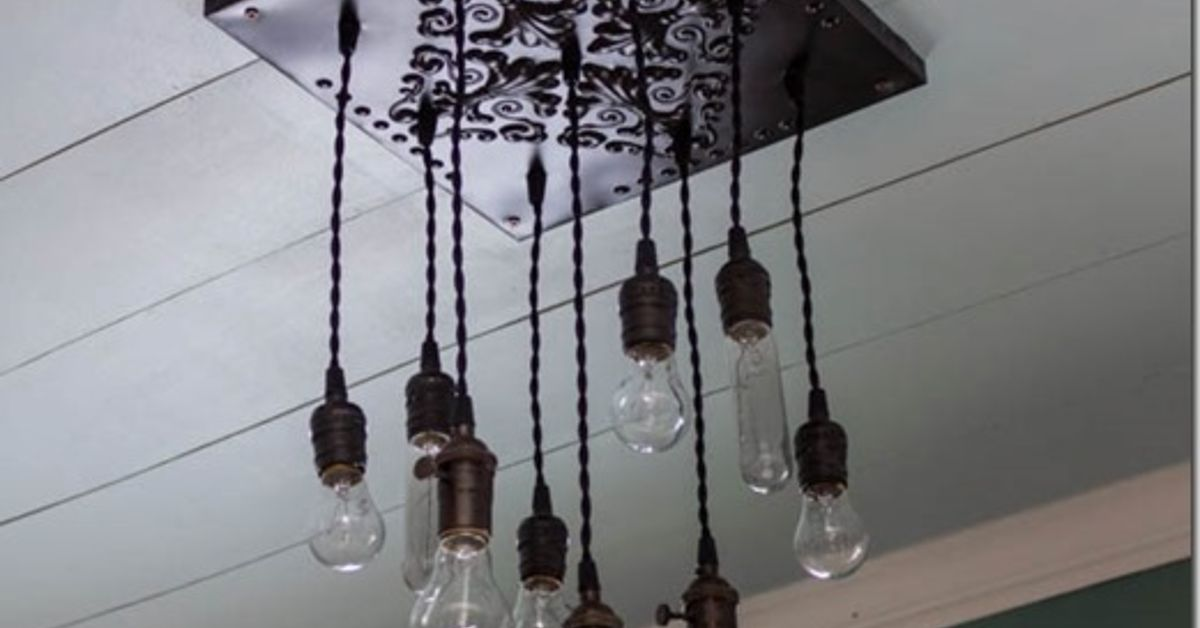 How to make a bare edison bulb chandelier hometalk aloadofball Choice Image