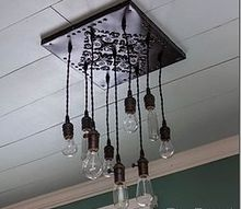 how to make a bare edison bulb chandelier, diy, home decor, kitchen design, lighting, I love this light We will be moving this summer and my husband and I are on the fence about leaving this light here I suspect it will stay If it does I will be making another one