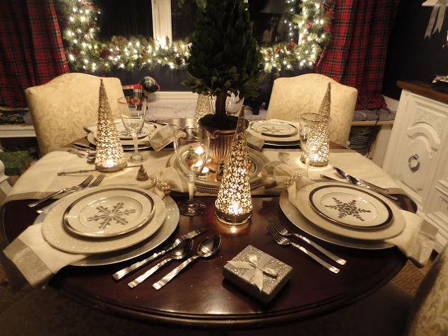 Holiday Dining Room Ralph Lauren Amp Goodwill Christmas Decorations Seasonal Decor Silver