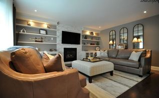 family room makeover, fireplaces mantels, home decor, living room ideas