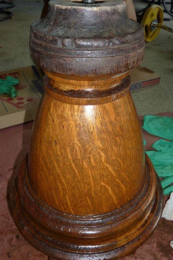 100 year old brunswick billiard table refinish job, painted furniture, repurposing upcycling