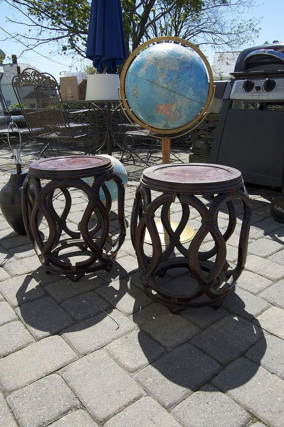 Rattan stools