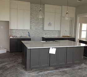 Beau White And Gray Kitchen, Countertops, Kitchen Design, Kitchen Island