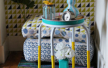 diy lamp with washi tape scrap fabric, crafts, lighting, repurposing upcycling