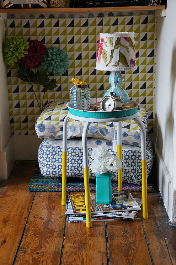 diy lamp with washi tape scrap fabric, crafts, lighting, repurposing upcycling