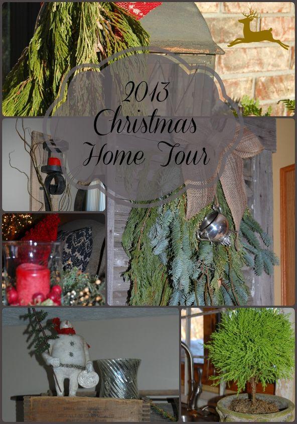 antique christmas decor, christmas decorations, repurposing upcycling, seasonal holiday decor, wreaths, Christmas Home Tour 2013