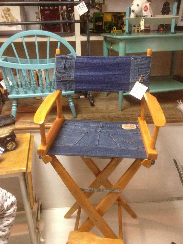 denim directors chair, painted furniture