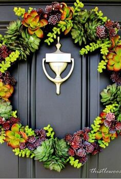 how to make a faux succulent wreath, crafts, wreaths