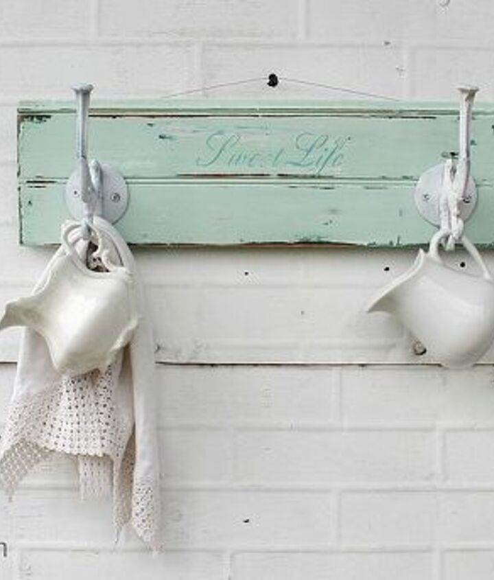 """This one is painted in a gorgeous pale mint color, with the words, """"Sweet Life"""" on it."""
