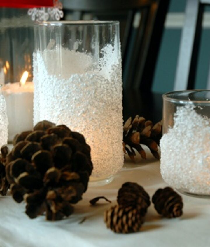 DIY Snow Drift Candle Holders - directions below!