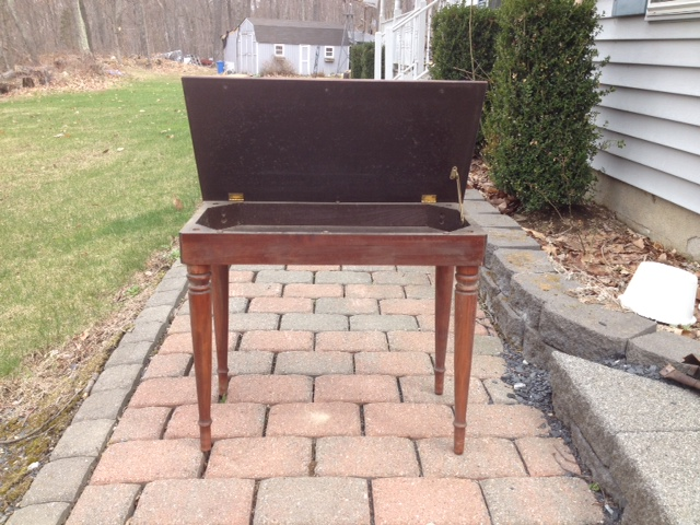 piano bench before after, painted furniture