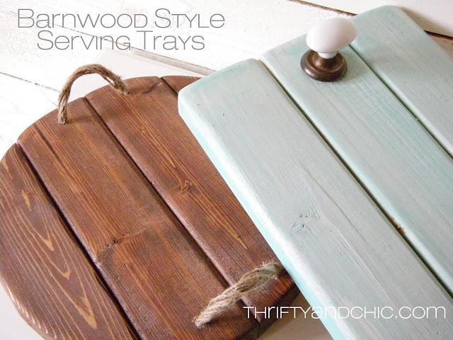 Barnwood style serving trays
