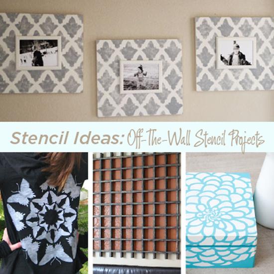stencil ideas creative stenciled craft projects, crafts, Stencil ideas with Cutting Edge Stencils
