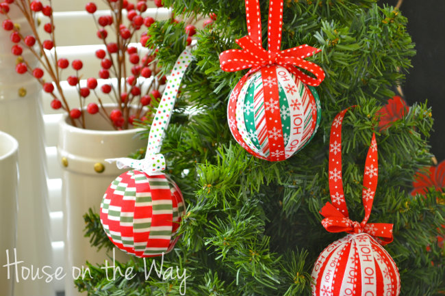 christmas ribbon ornament craft christmas decorations crafts seasonal holiday decor