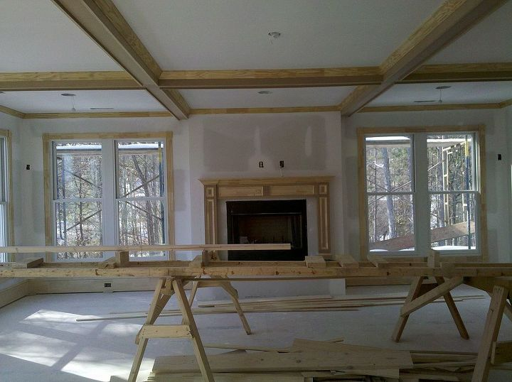 The trim is being installed
