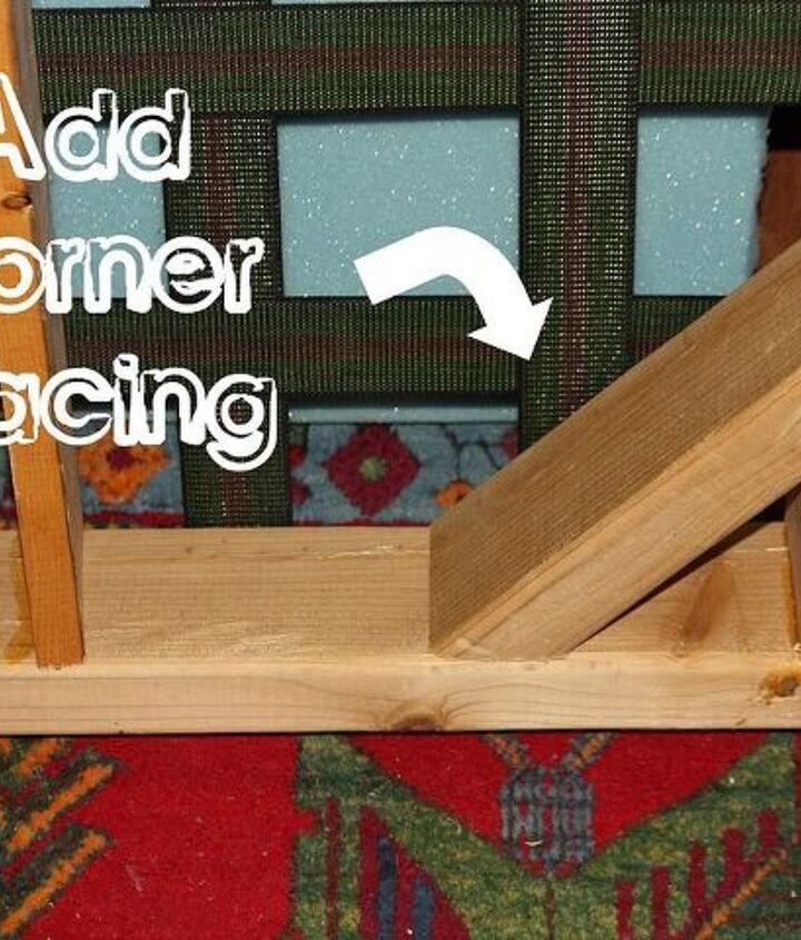 Corner bracing keeps your frame square.