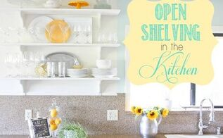 open shelving in the kitchen, diy, home decor, kitchen design, shelving ideas