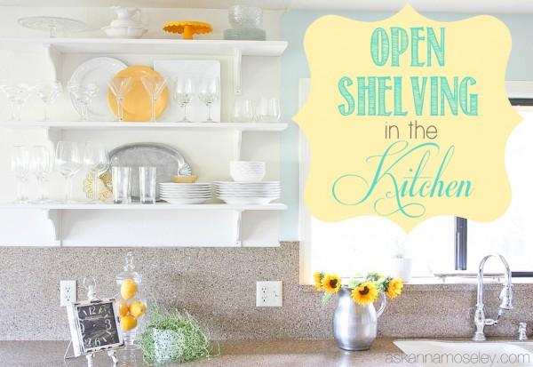 open shelving in the kitchen, diy, home decor, kitchen design, shelving ideas