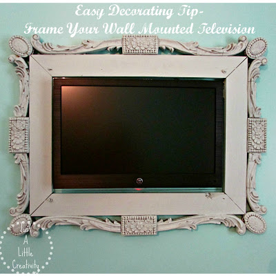 9. Just a little creativity - Blew me away with this amazing frame surrounding their wall mounted TV! Makes it look like art! I love how finished this piece looks.